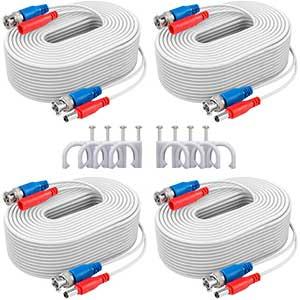 ANNKE Cable for CCTV Camera | 4-Pack | 100ft | White