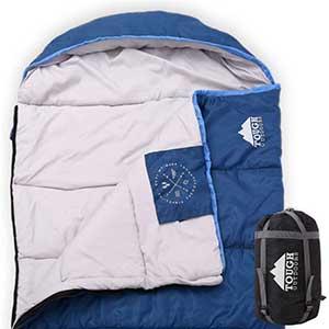 All Season XL Sleeping Bag for Side Sleepers   Waterproof