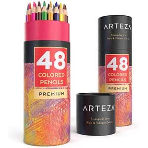 Arteza Colored pencils for Black Paper │ Triangular │ Lightweight