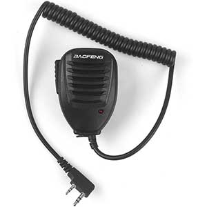 BF Speaker Mic for BaoFeng Handheld Radio | Twin Pin Cable