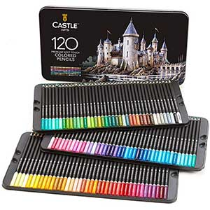 Castles Professional Colored pencils for Black Paper │ Multicolor │ Pigmented