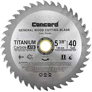 Concord   Saw Blade for Cutting Engineered Wood Flooring   5-⅜ inch