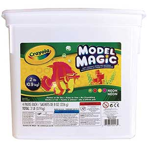 Crayola | Magic Neon | Modeling Clay for Slime Alternative | 2lb