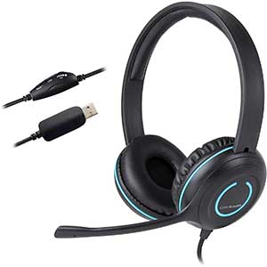Cyber Acoustics | USB Headset for Rosetta Stone | In-line Controls