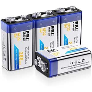 EBL Batteries for Smoke Detectors | Rechargeable