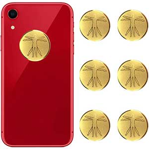 HUAGASION EMF Protection Stickers For Cell Phone | 6 Pcs Gold