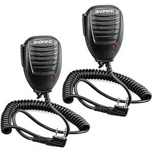Handheld Radio Speaker Mic for BaoFeng | LED Transmit Light