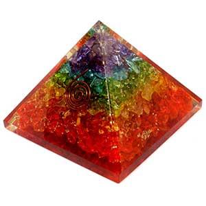 Healing Chakra Orgone Pyramid EMF Protection | Crystal Stone