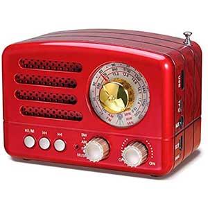 PRUNUS J-160 Vintage Shortwave Radio │ Bluetooth│ Feasible
