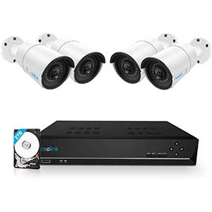 Reolink 8CH Poe Security Camera System   2TB   100ft Night Vision