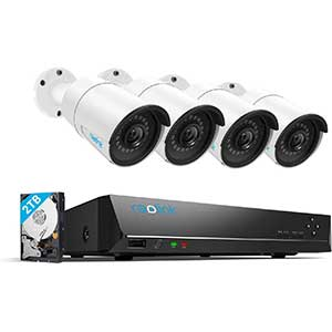 Reolink Poe Security Camera System   2TB   100ft Night Vision
