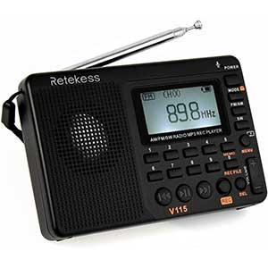 Retekess V115 Vintage Shortwave Radio │ Multiband │ MIC
