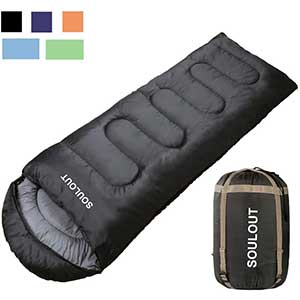 SOULOUT Sleeping Bag for Side Sleepers | 4 Seasons | Lightweight