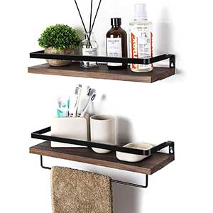 Soduku Floating Wall Mounted Shelves For Storage | Metal Wood