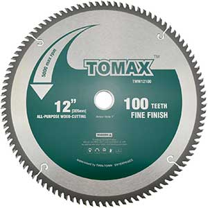 TOMAX   Saw Blade for Cutting Engineered Wood Flooring   12-inch
