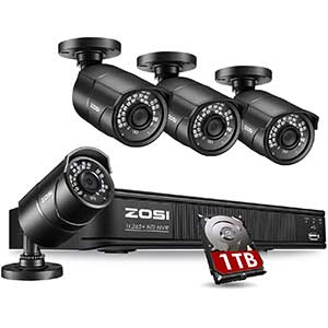 ZOSI 8CH Poe Security Camera System   5MP   120ft