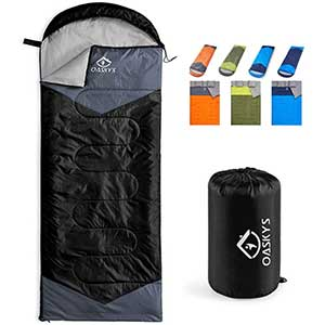 oaskys Camping Sleeping Bag for Side Sleepers   3-Season