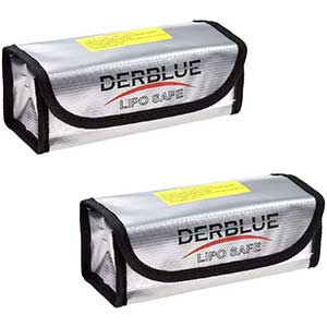 DerBlue | 2pcs | Fireproof and Explosion Proof | Lipo Bag