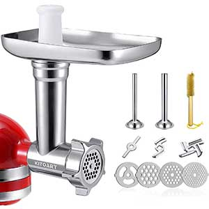 KITOART Meat Grinder Attachment for KitchenAid | Durable | Sliver