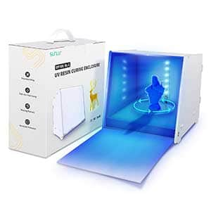SUNLU UV light for curing resin | Lightbox with 360 turntable