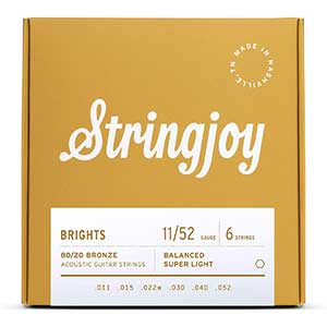 Stringjoy Bright Brass Strings For Taylor 214CE | Handcrafted