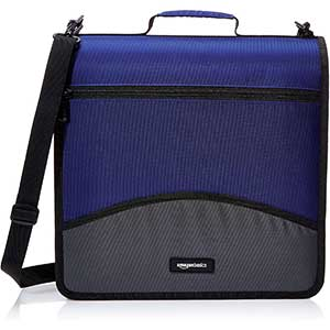 Amazon Basics 3 O-Ring Trapper Keeper | 3 Inch, Blue