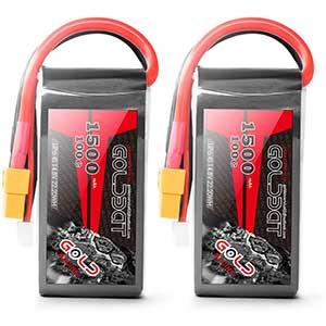 GOLDBAT 4S LiPo Battery | 1500mAh | 100C | 2 Packs
