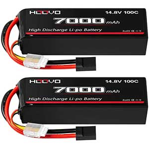 HOOVO 4S LiPo Battery | 7000mAh | With Metal Plates for X-Maxx