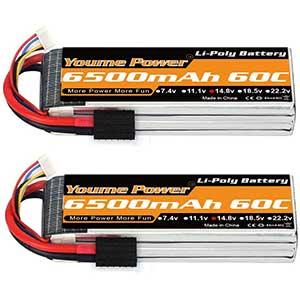 Youme Power 4S Lipo Battery | 14.8V | 6500mAh | 60C | 2 Packs