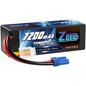 Zeee 4S LiPo Battery | 7200mAh | 80C | With EC5 Connector | 1 Pack